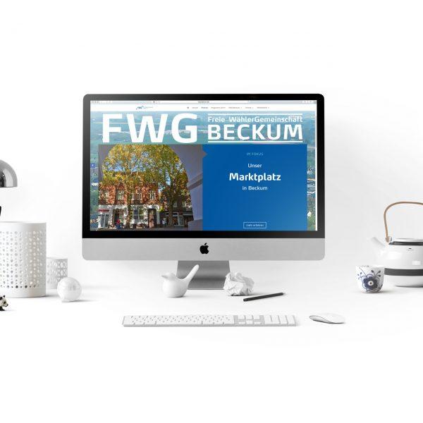 Internetauftrit der FWG Beckum