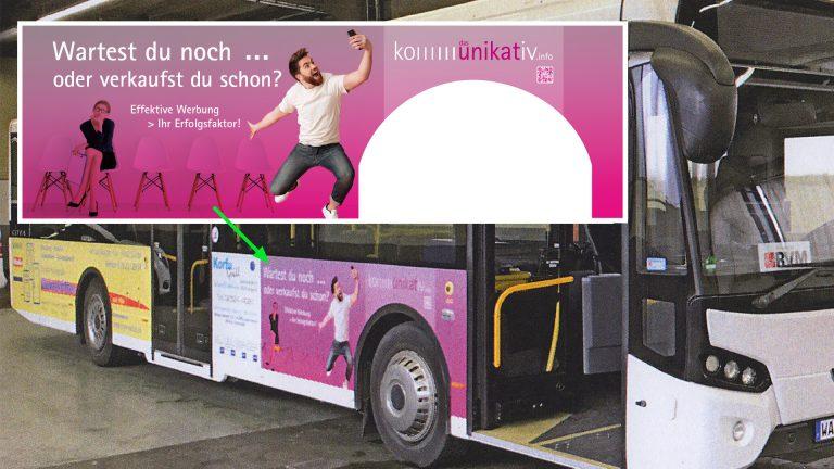Regionale Buswerbung von und mit kommunikativ