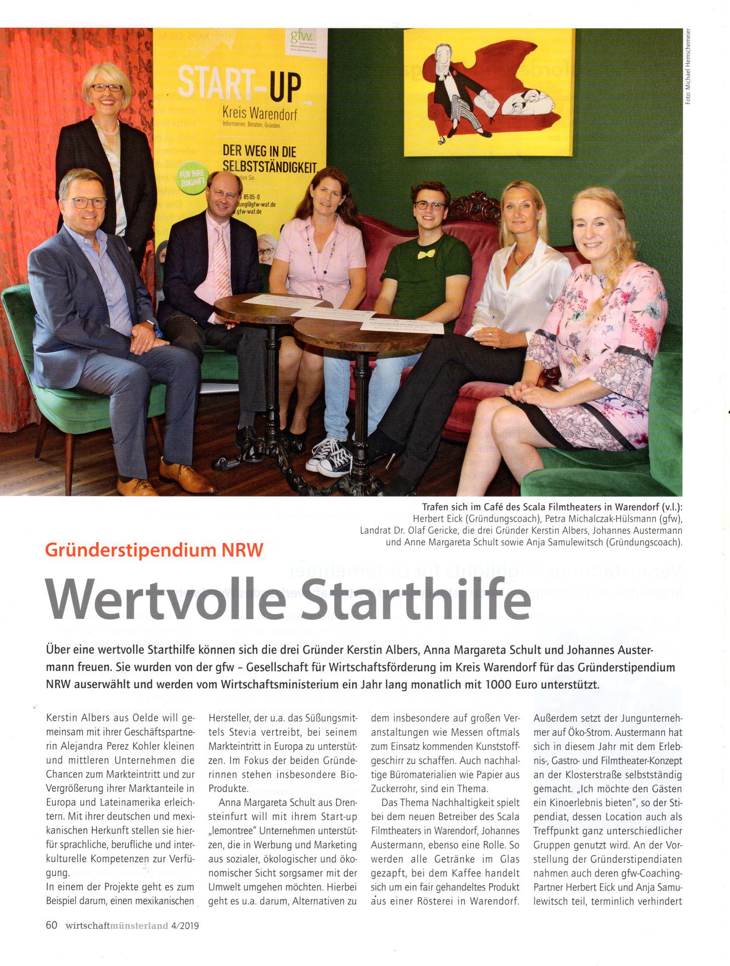 Artikel aus der Zeitschrift: wirtschaftmünsterland 4/2019