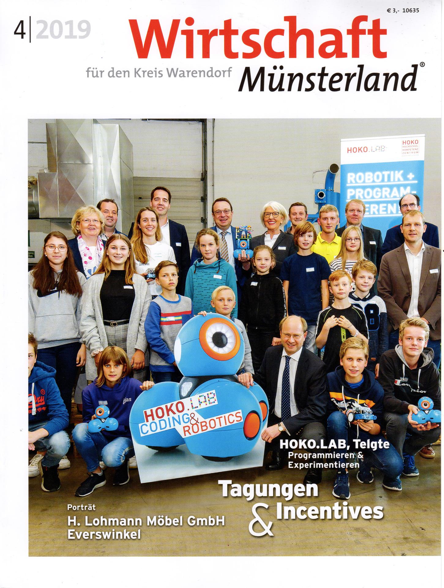 Titelseite der Zeitschrift: wirtschaftmünsterland 4/2019