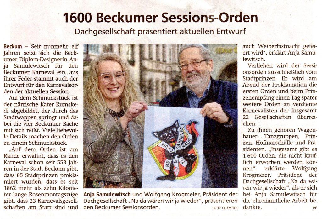 kommunikativ_Artikel_Die Glocke_1600-Beckumer-Sessions-Orden