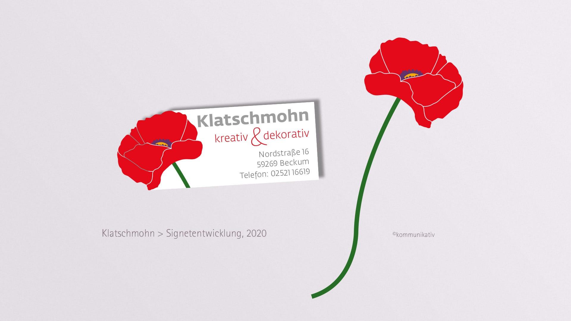 Logo-Redesign Klatschmohn Beckum