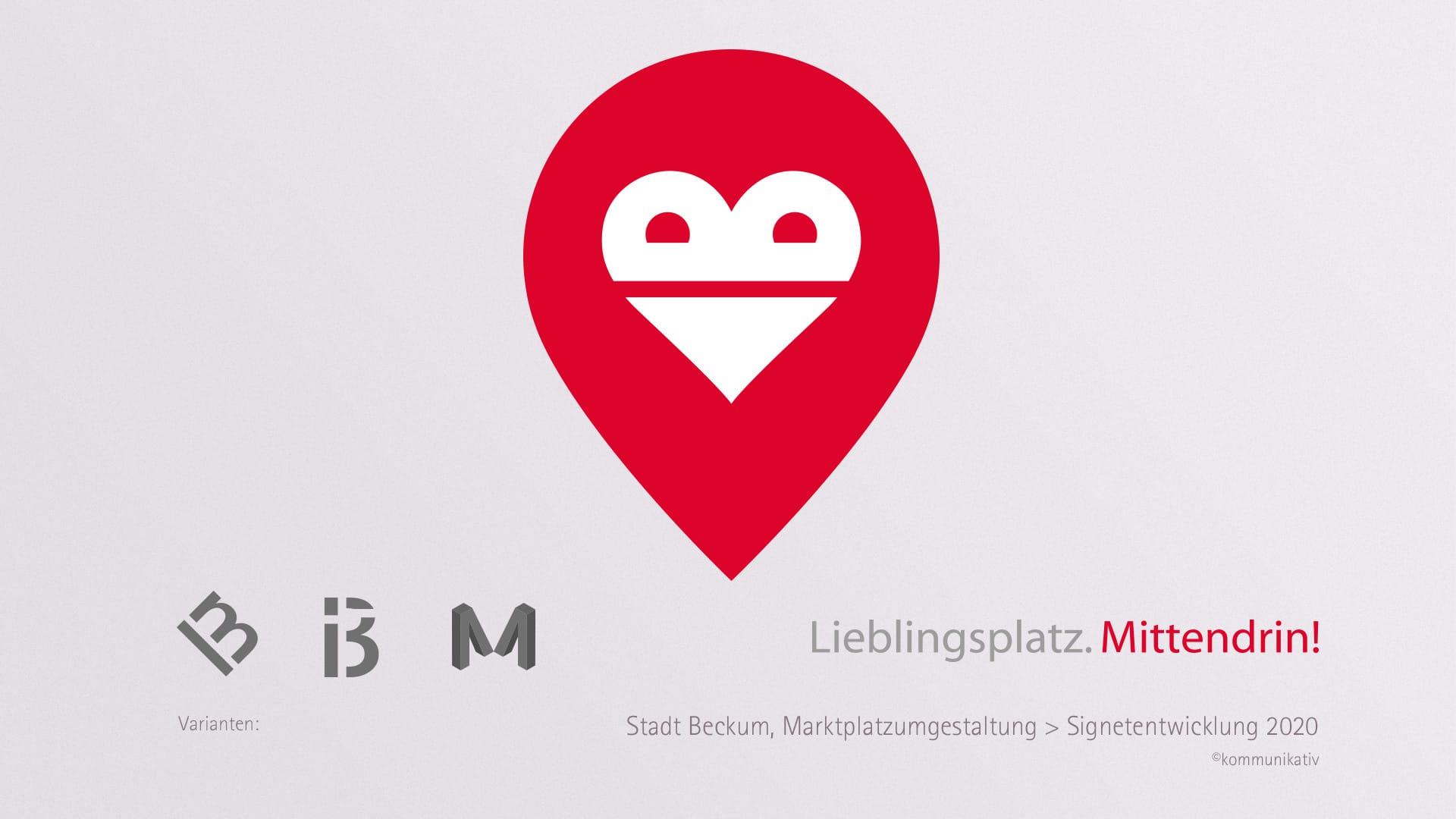Stadt Beckum, Logo Marktplatz
