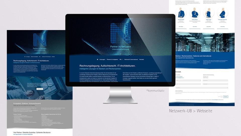Netzwerk Unternehmensberatung – Webseite