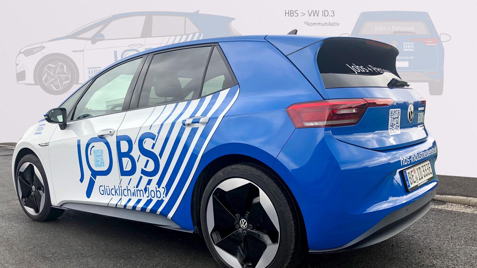 CarWrapping für nigelnagelneuen ID3 von HBS